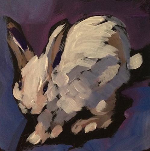 """Bun Run"" original fine art by Kat Corrigan"