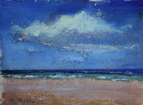 """Favorite Beach"" original fine art by Amy Whitehouse"