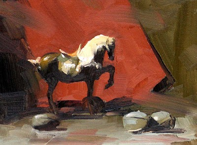 """Tang Horse --- Sold"" original fine art by Qiang Huang"