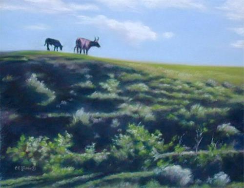 """Top of the Hill"" original fine art by Carol Zirkle"