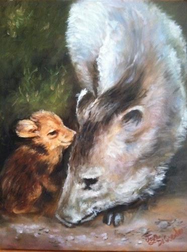 """""""Mama and Baby by Joye DeGoede"""" original fine art by Joye DeGoede"""
