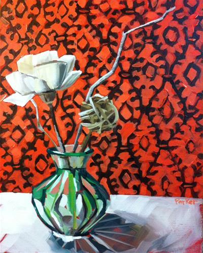 """Modern Charm"" original fine art by Teddi Parker"