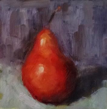 """""""Pear-ish"""" original fine art by Cindy Haase"""