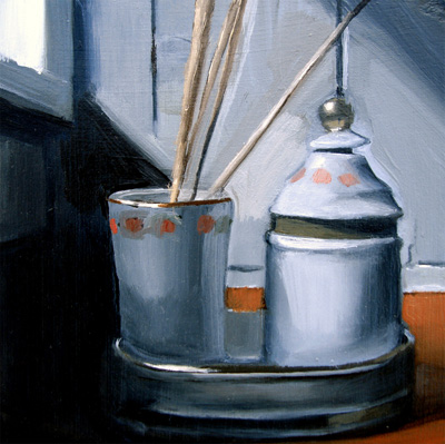 """Ceramic Set With Reeds (no.28)"" original fine art by Michael William"