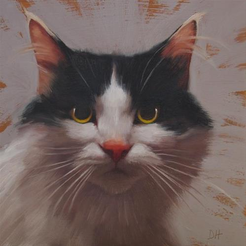 """""""Sam, a small cat painting"""" original fine art by Diane Hoeptner"""