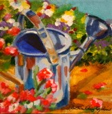 """Watering Can For Mom"" original fine art by JoAnne Perez Robinson"