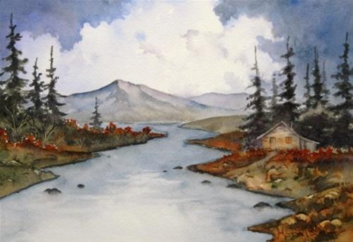 """By the Lake 2"" original fine art by Horst Berlow"