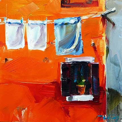 """Orange Wand"" original fine art by Jurij Frey"