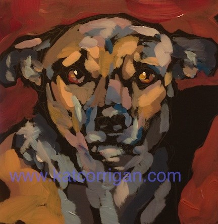 """Gus Straight On"" original fine art by Kat Corrigan"