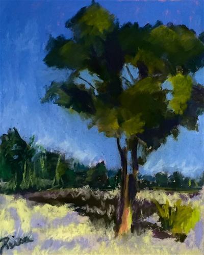 """""""Solitary Tree"""" original fine art by Reisa Peters"""