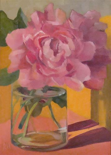 """Peonies in Gold"" original fine art by Rebecca Helton"