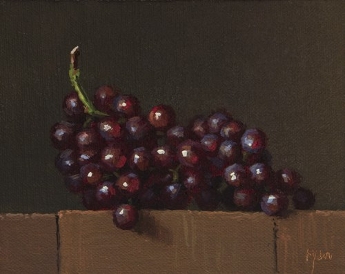 """Red Grapes in the Last Afternoon Light  (+ How High Will You Fly?)"" original fine art by Abbey Ryan"
