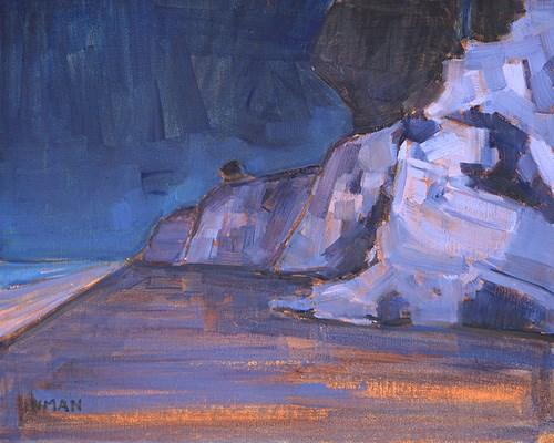 """Before Dawn, Leadbetter Beach"" original fine art by Kevin Inman"