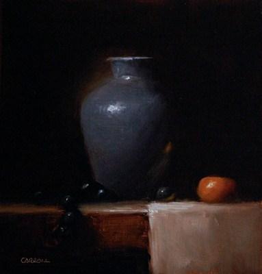 """Blue Vase - study"" original fine art by Neil Carroll"