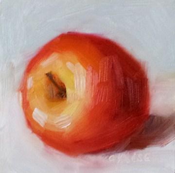 """Apple Poser"" original fine art by Cindy Haase"