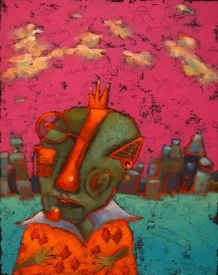 """Bernie Ponders His Supernatural Powers"" original fine art by Brenda York"