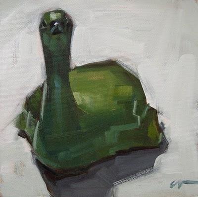 """Goose --- SOLD"" original fine art by Carol Marine"