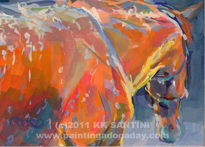 """Bathtime (Harrison's Reflection)"" original fine art by Kimberly Santini"