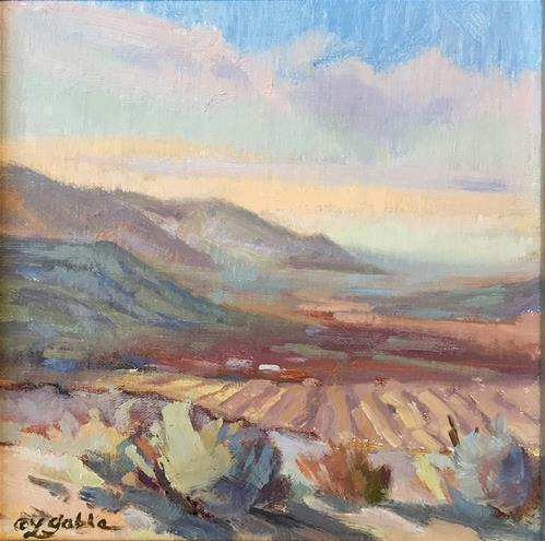 """Furrowed Fields"" original fine art by Laura Gable"