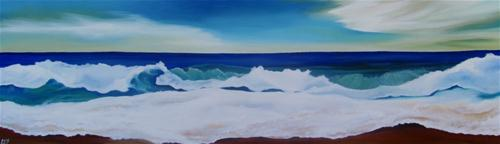"""Crashing Waves"" original fine art by ~ces~ Christine E. S. Code"