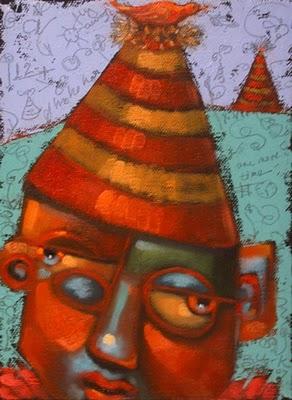 """Partridge Looking For A Pear Tree"" original fine art by Brenda York"