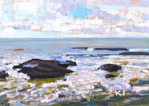 """Ocean Beach San Diego"" original fine art by Kevin Inman"