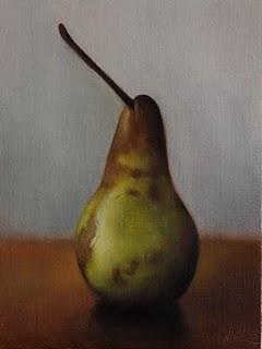 """Golden Bosc Pear"" original fine art by Jonathan Aller"