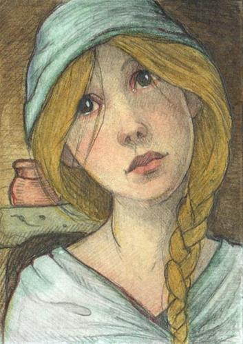 """Cinderella"" original fine art by Lisa Ferguson"