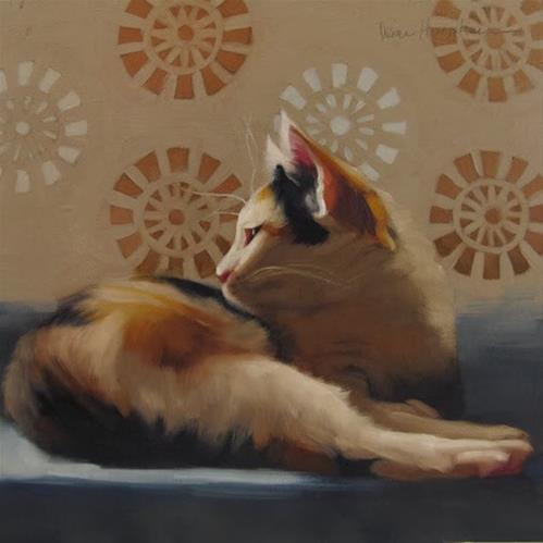 """""""Spot Lounges original oil painting by Hoeptner"""" original fine art by Diane Hoeptner"""