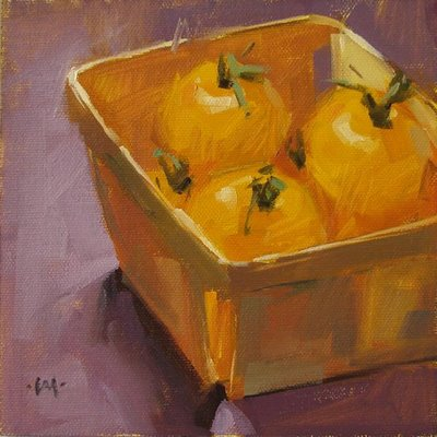 """Cozy & Yellow"" original fine art by Carol Marine"