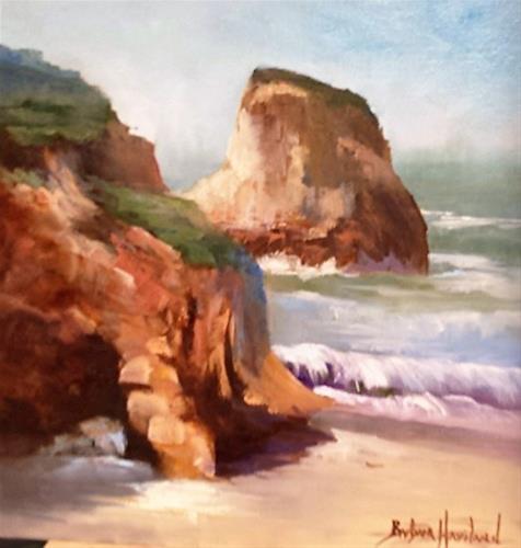 """Rocky Shore"" original fine art by Barbara Haviland"