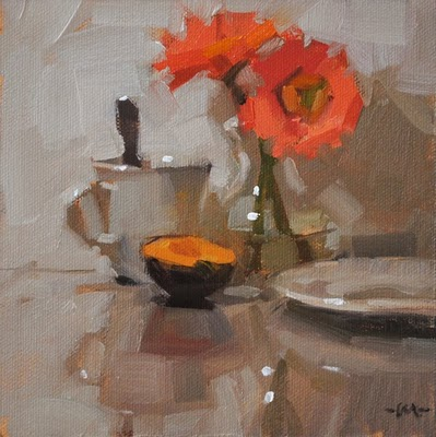 """Simple Breakfast 3"" original fine art by Carol Marine"