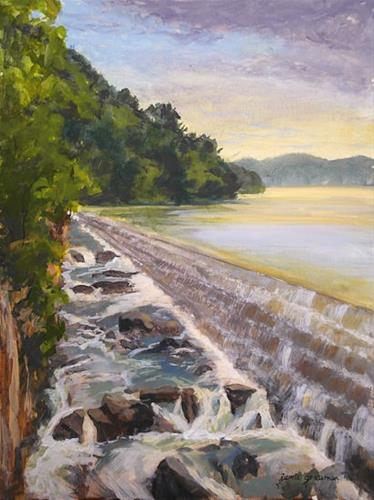 """View from Above Croton Dam"" original fine art by Jamie Williams Grossman"