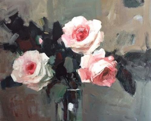 """vase of roses"" original fine art by Parastoo Ganjei"