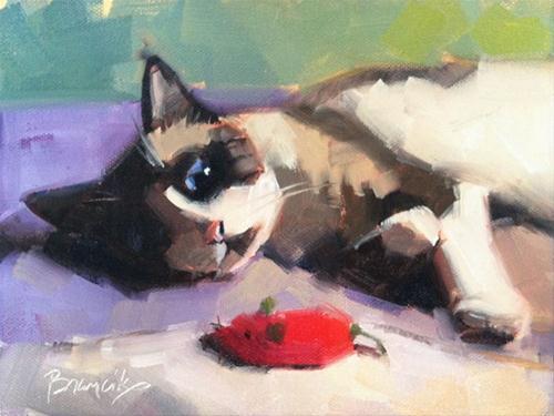 """Snowshoe"" original fine art by Candace Brancik"