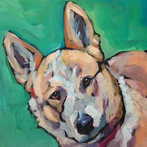 """July 16, Pepper"" original fine art by Kat Corrigan"