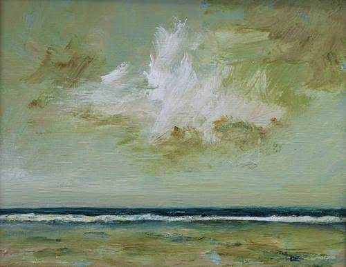 """Storm Watch, Contemporary Seascape Paintings by Arizona Artist Amy Whitehouse"" original fine art by Amy Whitehouse"