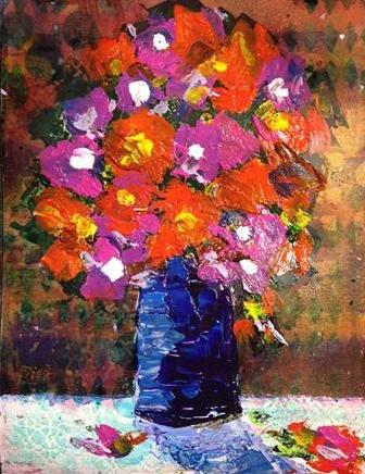 """Flowers"" original fine art by Barbara Beckmann"