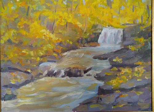 """Along the Wissahicken"" original fine art by angela scully"