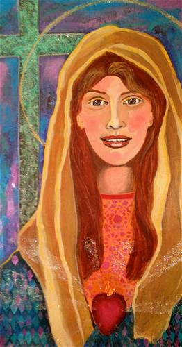 """Young Mary"" original fine art by Barbara Beckmann"