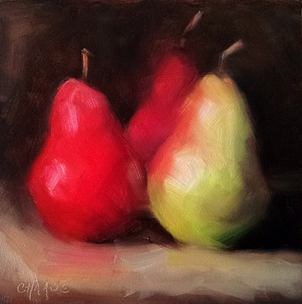 """Red, Red and Yellow"" original fine art by Cindy Haase"