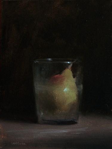 """""""Pear in Glass"""" original fine art by Neil Carroll"""