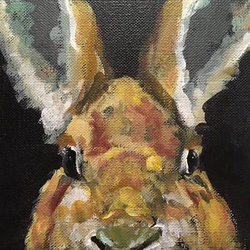 """Splitting Hares"" original fine art by Susan Elizabeth Jones"
