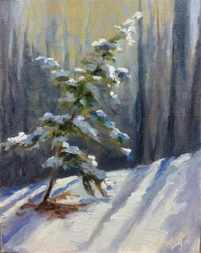 """Charlie Browns tree-en plein air"" original fine art by Veronica Brown"