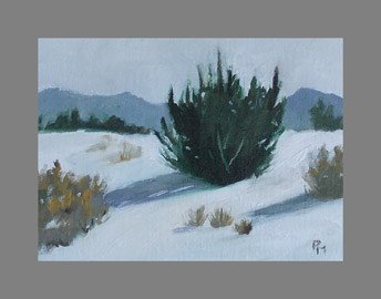 """Winter on Sims Mesa"" original fine art by Pamela Munger"