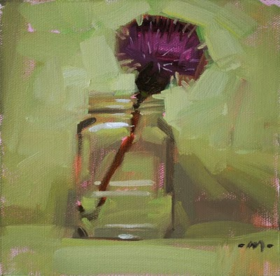 """Thin Thistle"" original fine art by Carol Marine"