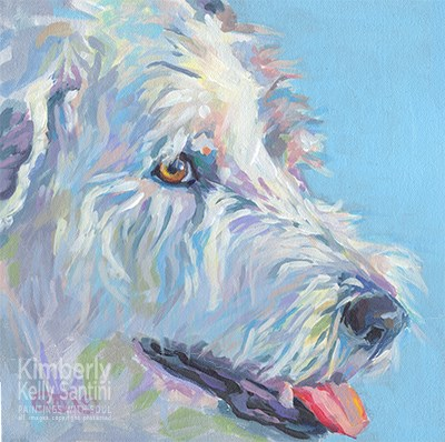 """Millie"" original fine art by Kimberly Santini"