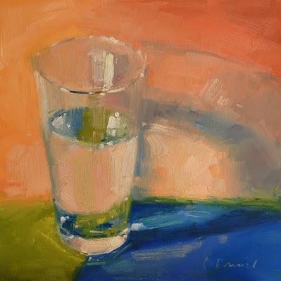 """Water Glass"" original fine art by Laurel Daniel"