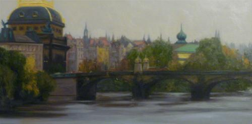 """View from the Charles Bridge"" original fine art by Jonelle Summerfield"