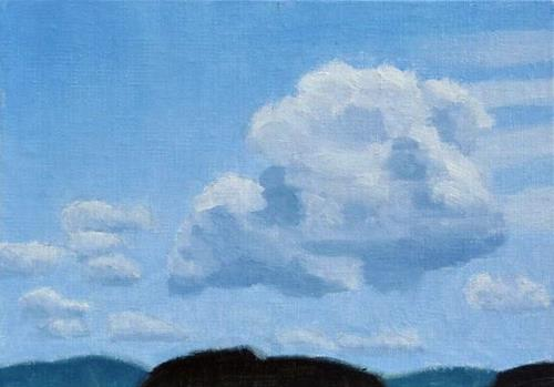 """Cumulus Clouds"" original fine art by Bobbi Heath"
